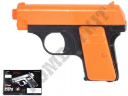 P328 Compact Airsoft BB Gun 2 Tone Black and Orange